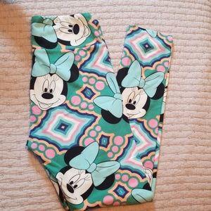 Lularoe OS Minnie Mouse Leggings